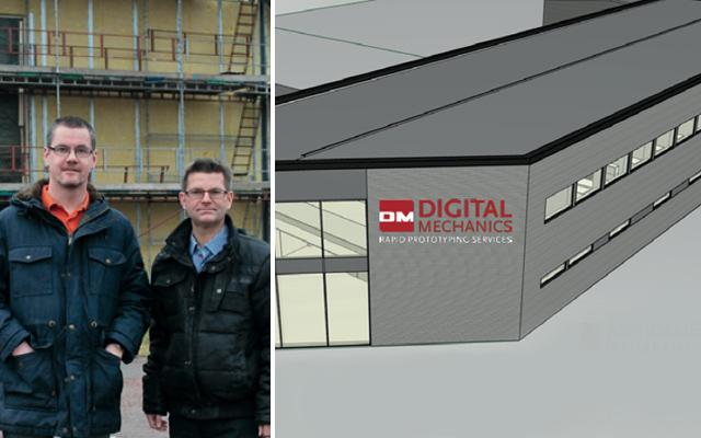 Fredrik Finnberg och Anders Sjöberg på Digital Mechanics.