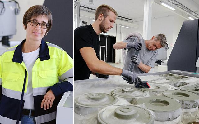 Åsa Lauenstein är ansvarig för projektledare för Swerea SWECASTs 3d-printprojekt i Jönköping.