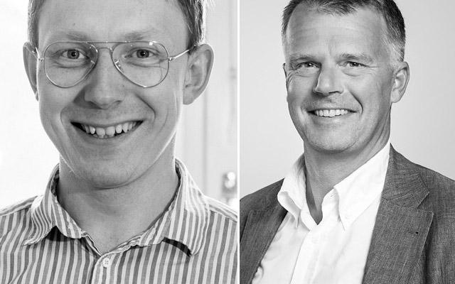 Robert Kniola, vd, Wematter, och Fredrik Malmström, investment manager på Almi Invest.