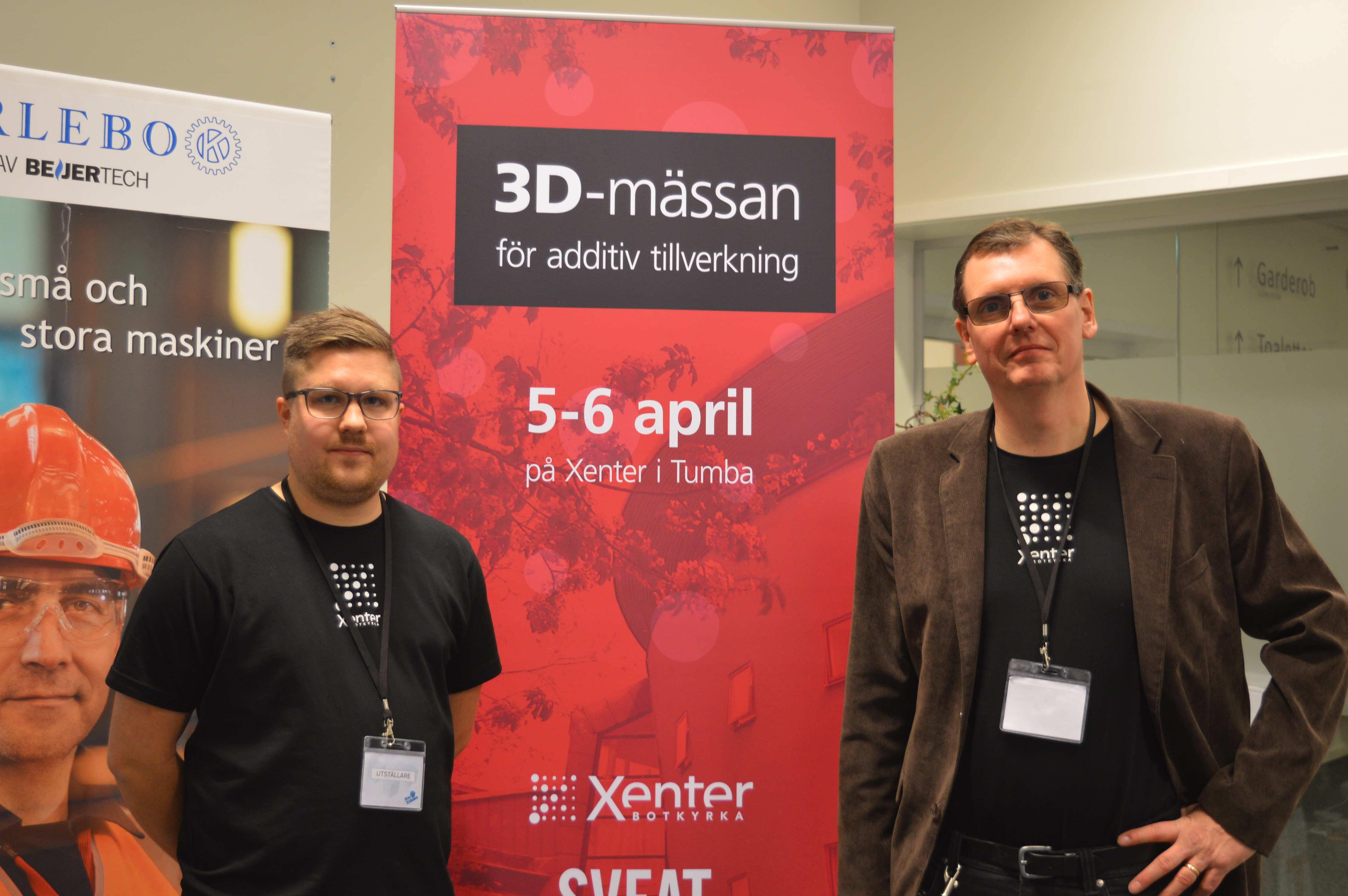 Jesper Hansen, studerar att bli 3D-tekniker, Jan Sätherlund, utbildningsledare, Xenter.