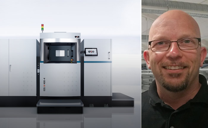 Siemens Industrial Turbomachinery, där Andreas Graichen är gruppchef, väljer nysläppta EOS M400-4.