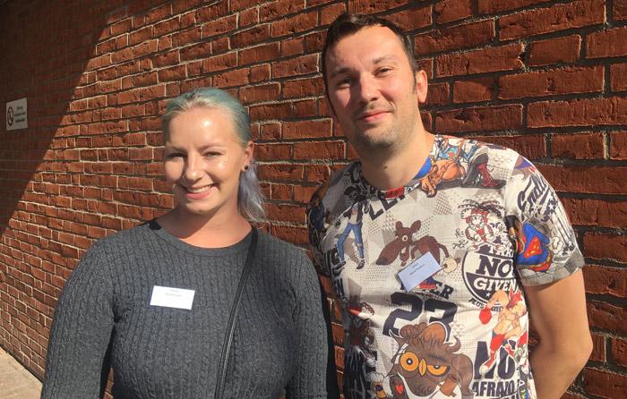Emy Karlsson och Nenad Dordevic tillhör första kullen studenter på utbildningen.