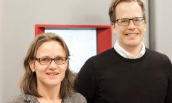 Annika Strondl och Joakim Ålgårdh på Swerea KIMAB.