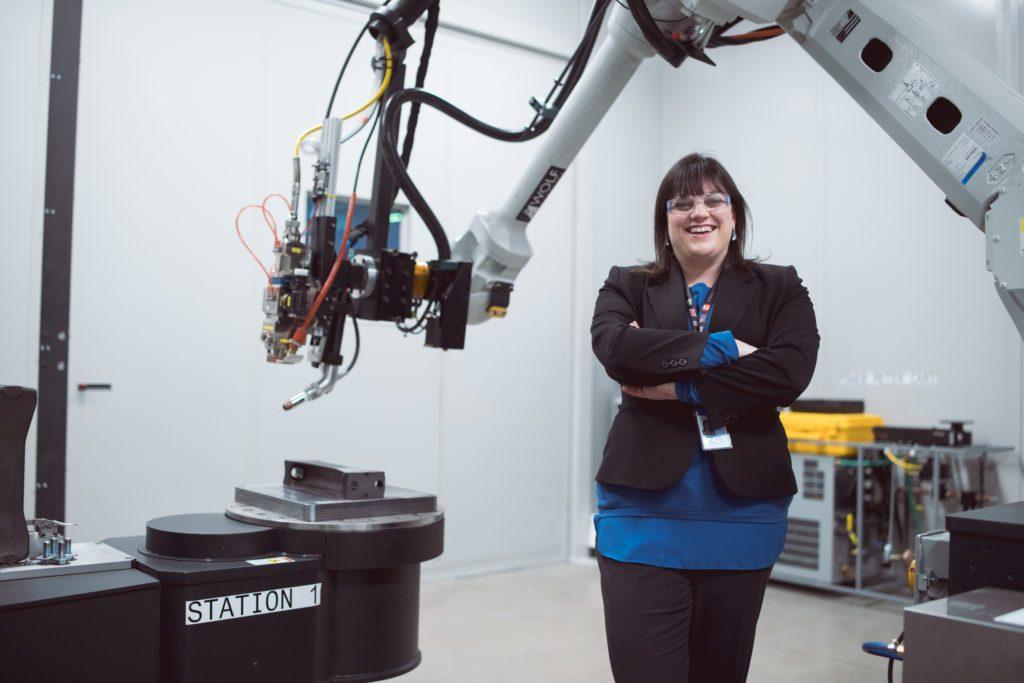 Jennifer Cipolla är global chef för GE Additive och ansvarar bland annat för GE:s kundcenter. Bild: Tomas Kellner, GE Reports.