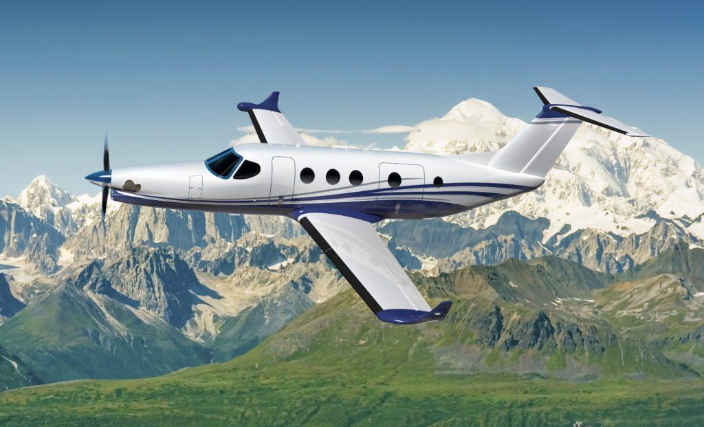 Det första planet som ska ha den nya motorn är flygplanet Textron Aviation Cessna Denali. Bild: Tomas Kellner, GE Reports.