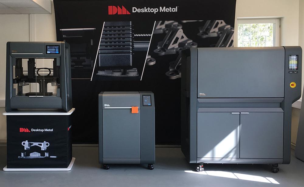 BMD 3d-skrivaren Studio+, tvättstationen Debinder och sintringsugnen Furnace.