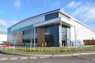 The picture shows the new manufacturing facility of Materials Solutions Ltd.