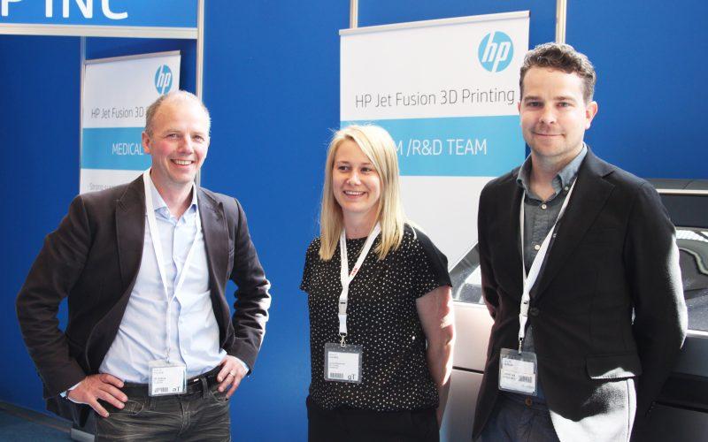 En del av 3D Centers team. Från vänster: Ulf Qviberg, Lisa Antonsson och Pierre Harrysson.