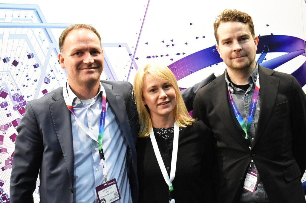 Casper Rosén, Lisa Antonsson och Pierre Harrysson.