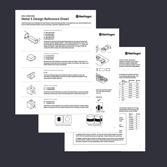 Markforged har tagit fram en designguide för ingenjörer som designar för 3d-utskrifter i metall. Då den här typen av 3d-utskrift ökar anserMarkforged att det är av största vikt att ingenjörer lär sig att designa specifikt för denna process.