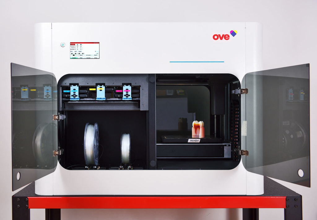 En 3d-skrivare som heter OVE.