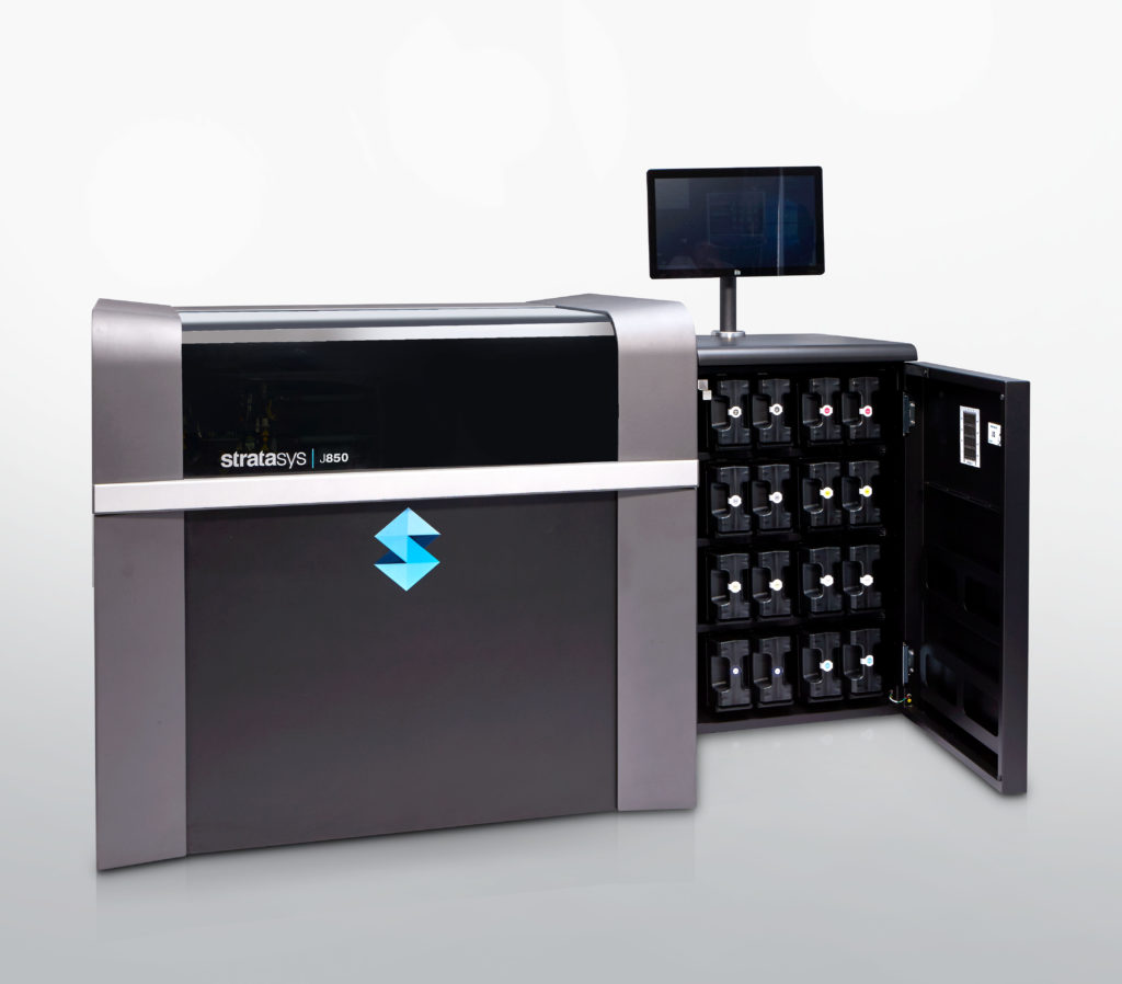 Stratasys nya 3d-skrivare J850 har en byggyta på 490 x 390 x 200 millimeter.