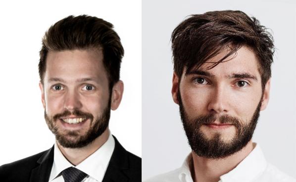 Edvin Resebo från Amexci och Lars Nyström från Autodesk.