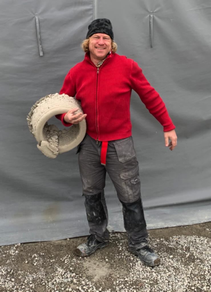 Tobias von Haslingen, en glad entreprenör med sitt 3d-printade betongrör.