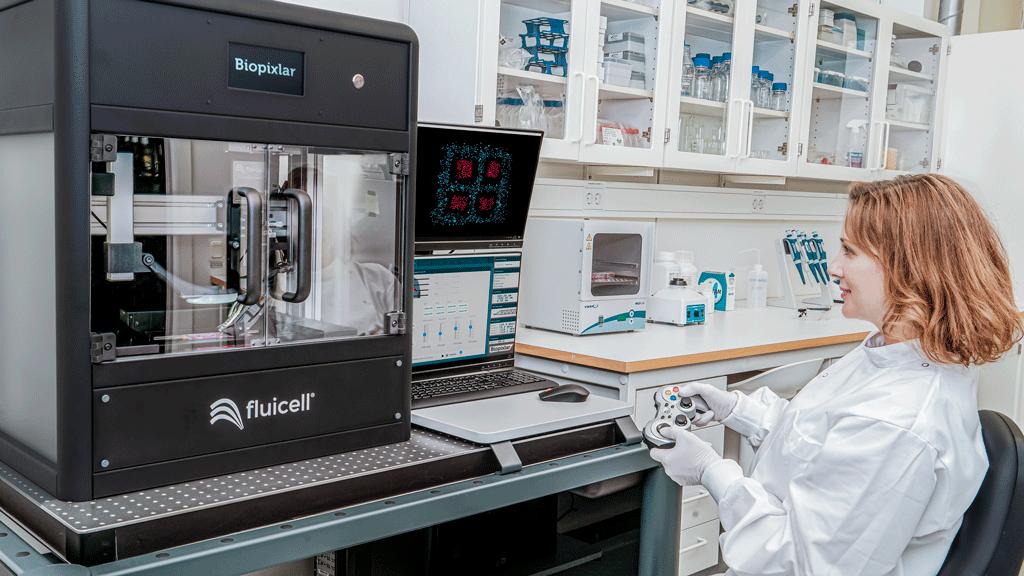 Fluicell lanserar Biopixlar, en ny bioskrivare som ska hjälpa forskare.