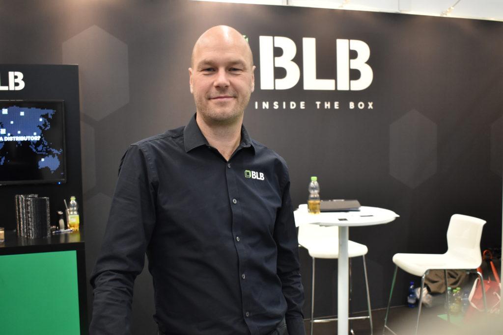 Stefan Ek, vd på BLB Industries, var mycket nöjd med årets mässa.