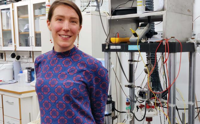 Sara Munktell, forskare på Swerim och projektledare för SAMCO.