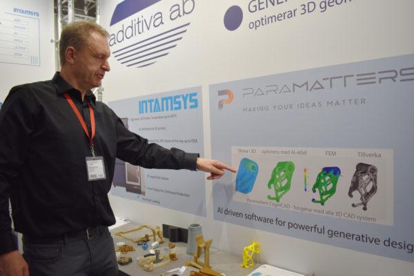 På Elmia Subcontractor 2019 var Additiva Ab på plats för att prata om högpresterande material och generativ design.