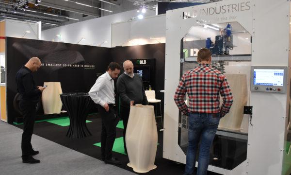 BLB Industries på plats under Formnext-mässan i Frankfurt, november 2019. I år är de tillbaka igen.