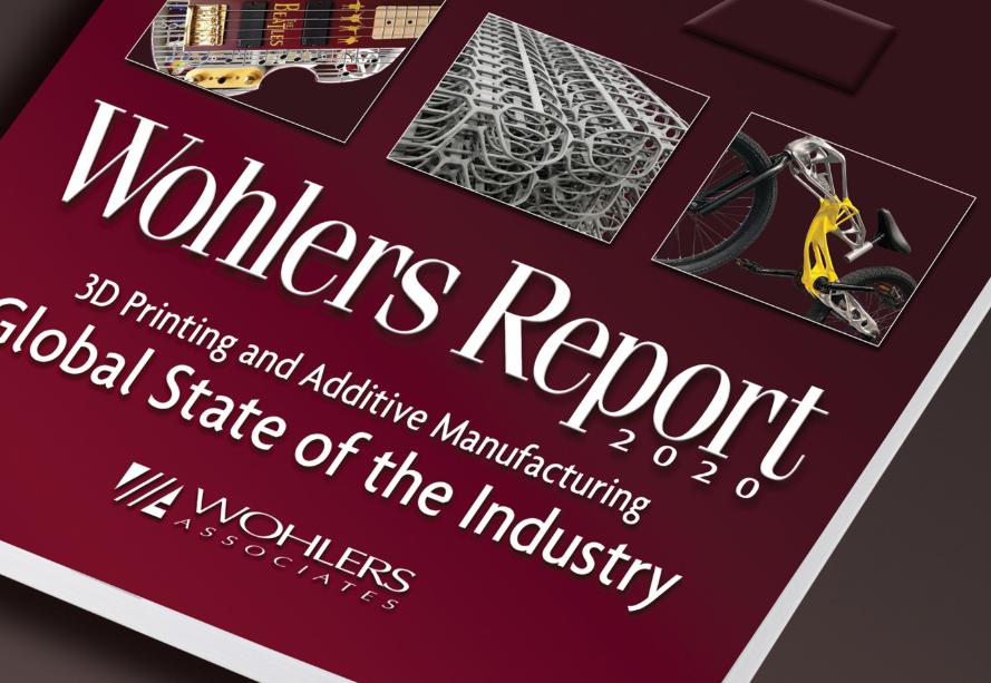 Årets Wohlers Report på 380 sidor lyfter fram ny statistik om den additiva tillverkningsbranschen. Foto via Wohlers Associates