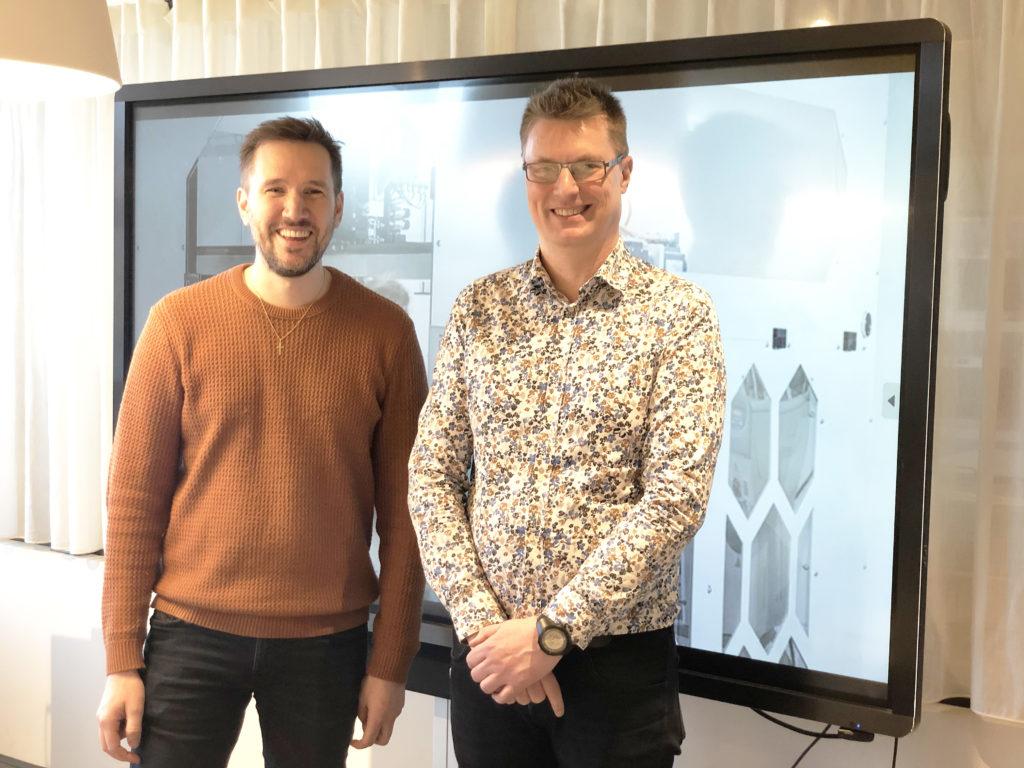 Oscar Axelsson, Teknikcenteransvarig, och Niclas Stensson, utvecklingsstrateg och kompetensutveckling för näringslivet.