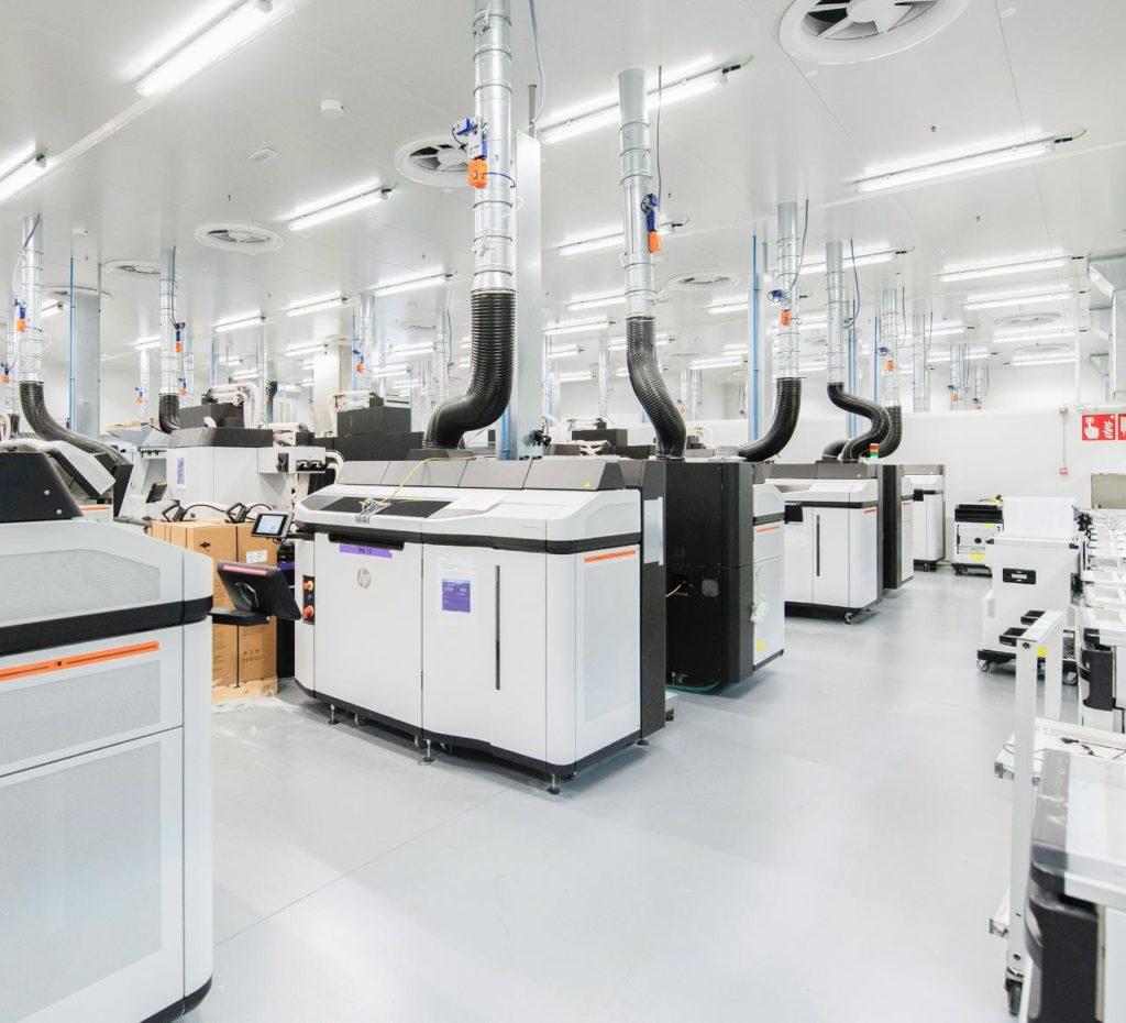 HP Jet Fusion 5200. Bild från produktionsenheten i Barcelona i Spanien. Foto: HP