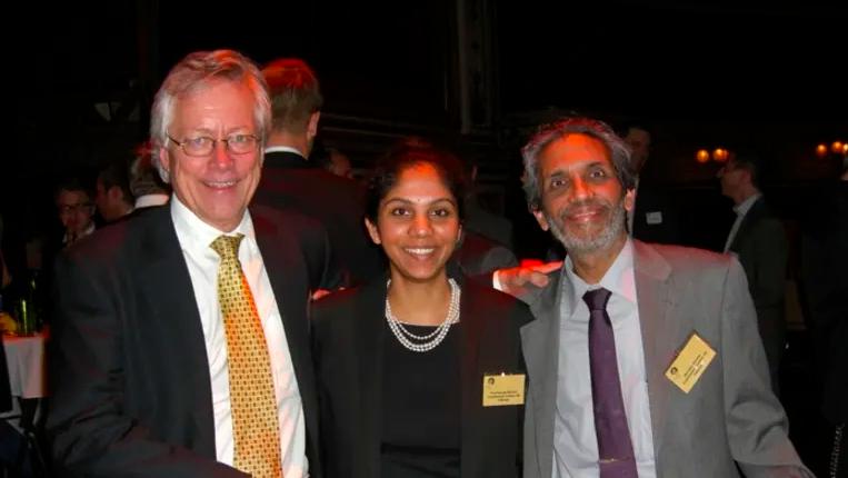 Furehos team. Från vänster: Fredrik Winberg, Prarthanaa Khokar och Nandan Khokar.