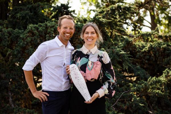 Grundarna Christian Veraeus och Emelie Strömshed. Foto: Olle Enqvist