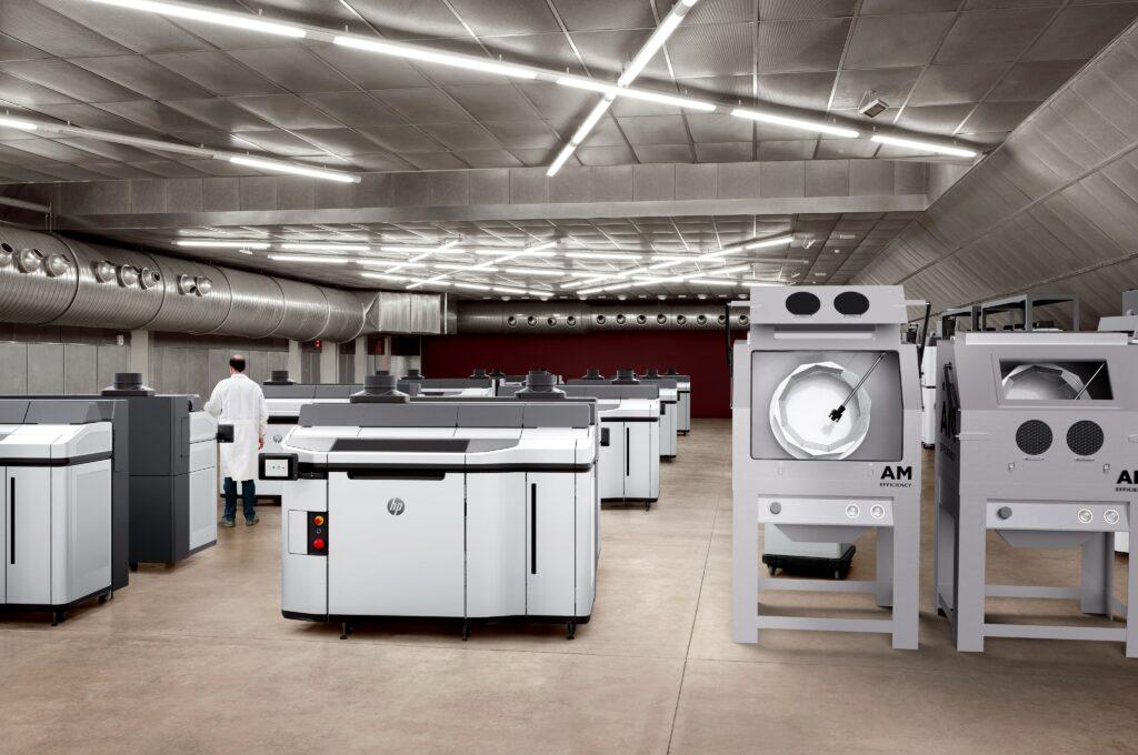 AM Efficiency är 3D Centers nya varumärke som ska leverera maskiner för efterbearbetning av 3d-printade delar. Foto via 3D Center