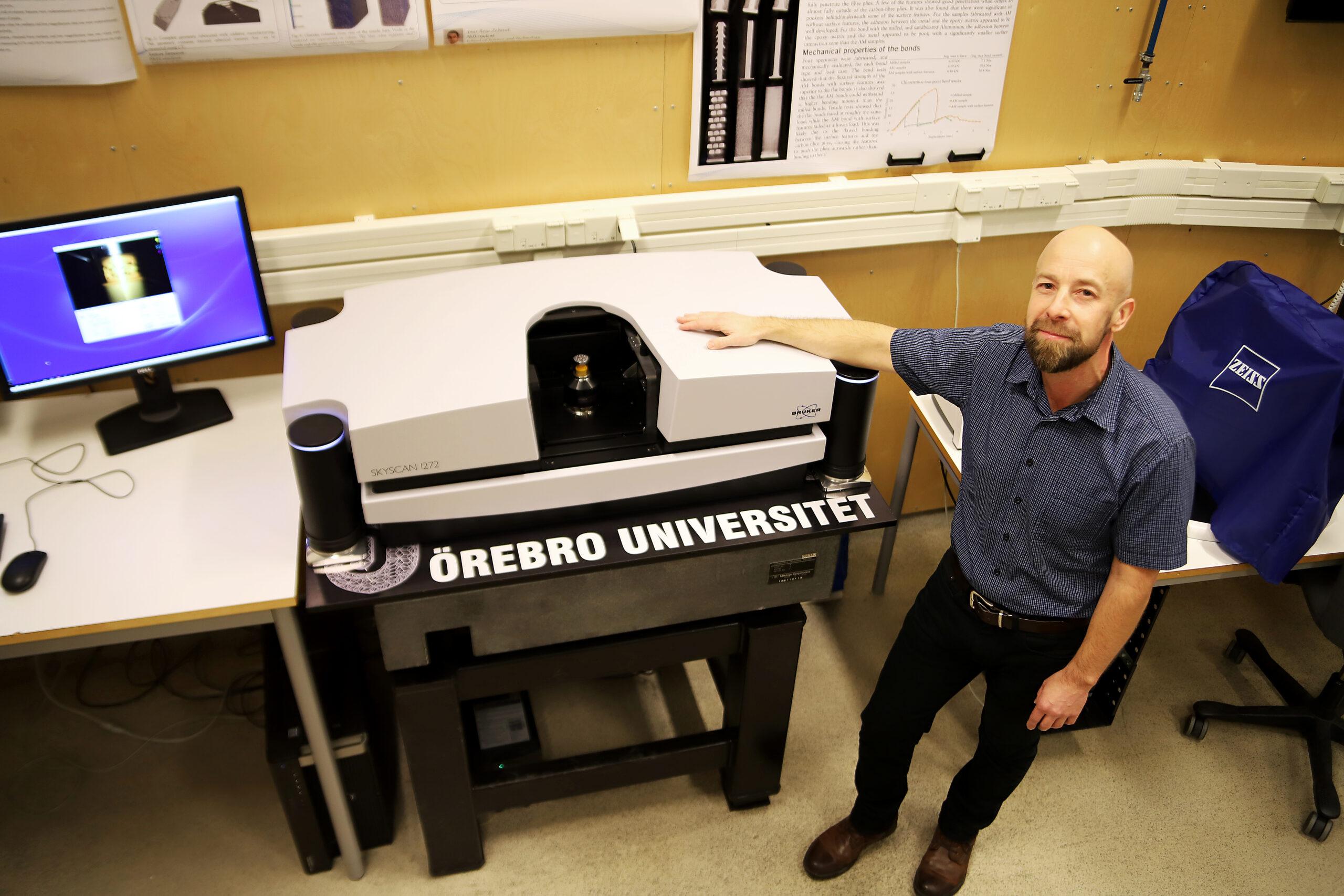 Patrik Karlsson på Örebro universitet, uppskattar att analysen kommer ta 50 arbetsdagar. Foto: Örebro universitet