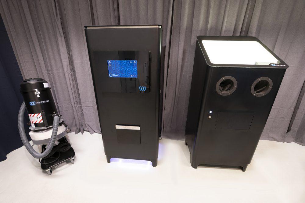 2021 års modeller av Wematters system i företagets showroom. Foto: Wematter