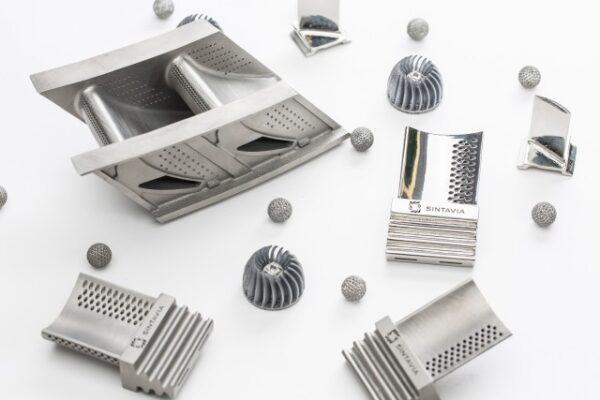 Exempel på 3d-printade metalldelar av Sintavia. Foto: Sintavia