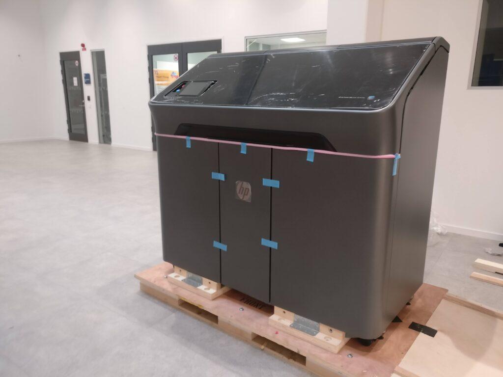 3d-skrivaren HP Multi Jet Fusion 580 har nyligen installerats på Högskolan i Halmstad.