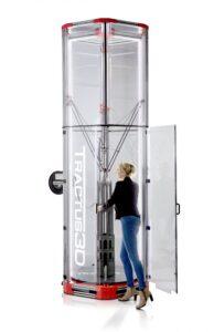 Den stora 3d-skrivaren, T3500, har en byggvolym upp till 2,1 meter i höjd och en meter i diameter.